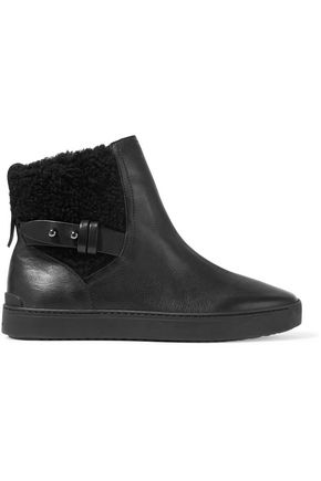 RAG & BONE Farling shearing-trimmed leather ankle boots
