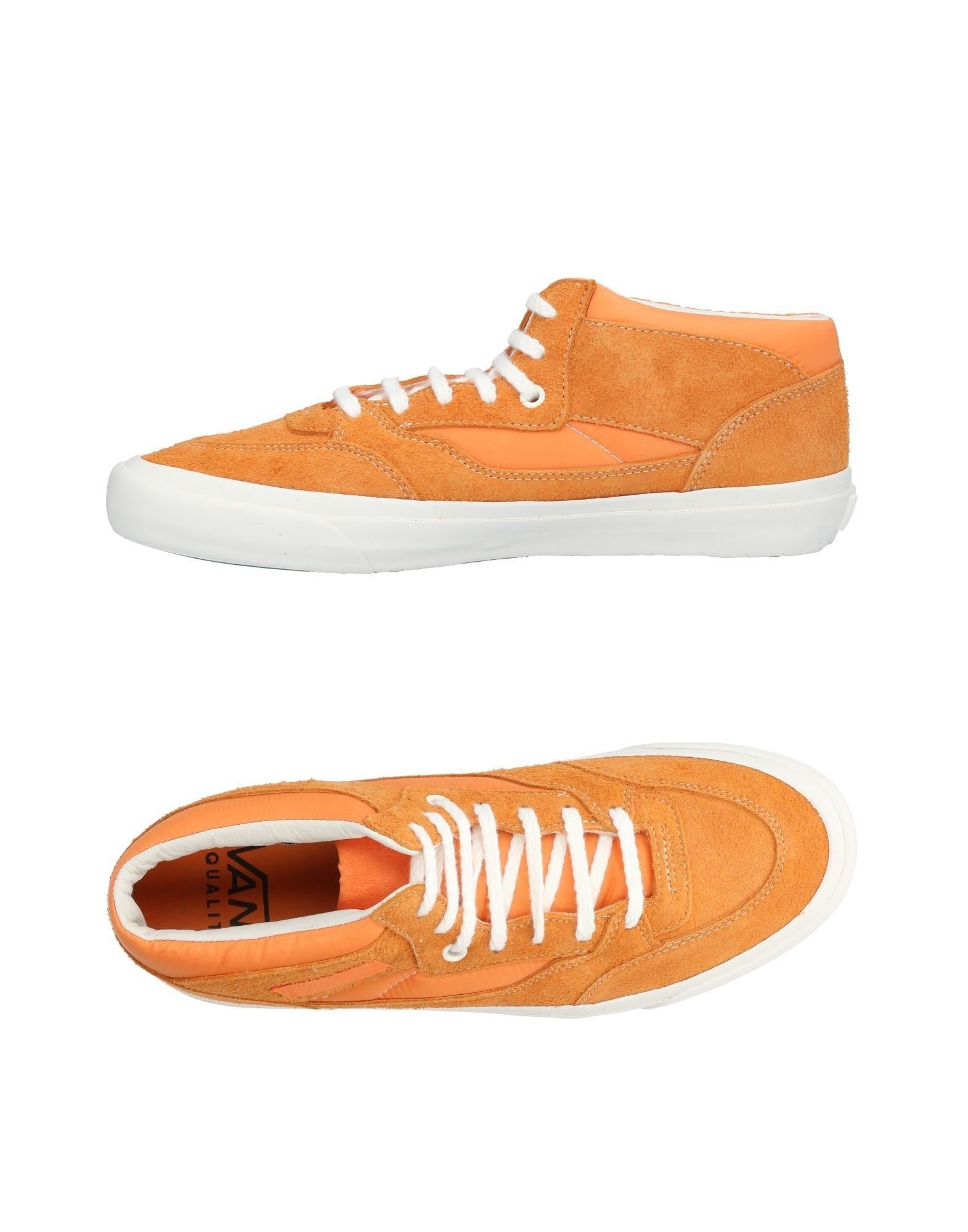《送料無料》VANS メンズ スニーカー&テニスシューズ(ローカット) オレンジ 11.5 革 / 紡績繊維