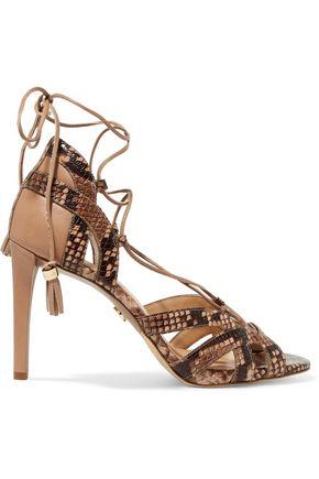 MICHAEL MICHAEL KORS Mirabel paneled snake-print sandals
