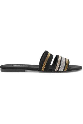 NEWBARK Roma III Swarovski crystal-embellished suede sandals