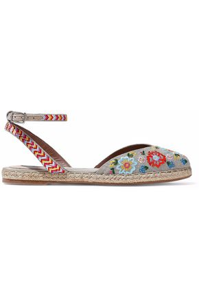 TABITHA SIMMONS Embroidered canvas espadrilles