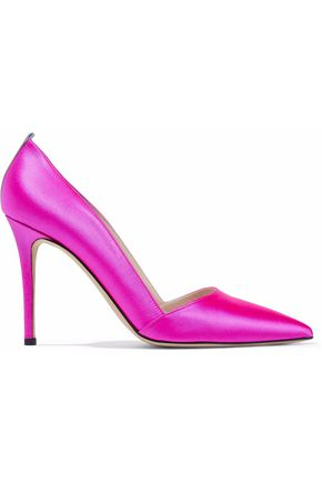 SJP by SARAH JESSICA PARKER Grosgrain-trimmed satin pumps