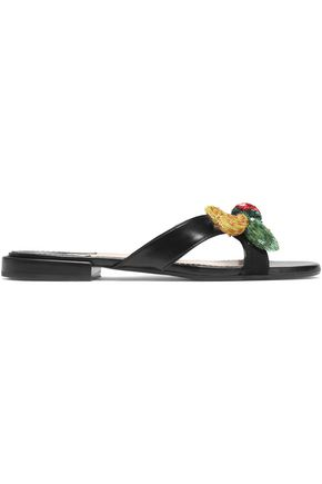 ALTUZARRA Embellished leather slides