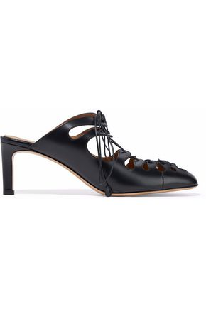 THE ROW Dixie lace-up leather pumps