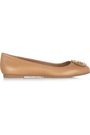 TORY BURCH Embellished leather ballet flats