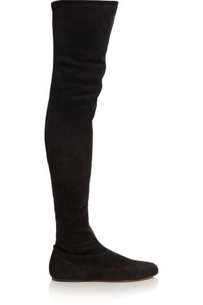 ALAÏA Stretch-suede over-the-knee boots