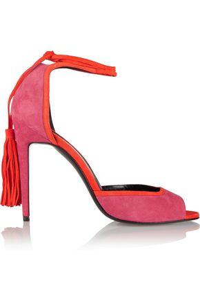 PIERRE HARDY Majorelle tasseled suede sandals
