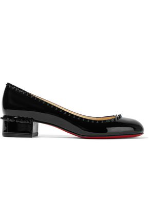 CHRISTIAN LOUBOUTIN Treliliane 30 spiked patent-leather pumps