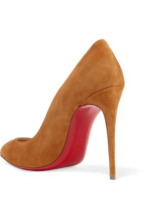 6bfe59c15b46 ... CHRISTIAN LOUBOUTIN Pigalle Follies 100 suede pumps