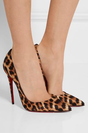 1aa95e6db46 ... CHRISTIAN LOUBOUTIN So Kate 120 leopard-print satin pumps ...