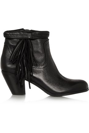 SAM EDELMAN Louie fringed leather ankle boots