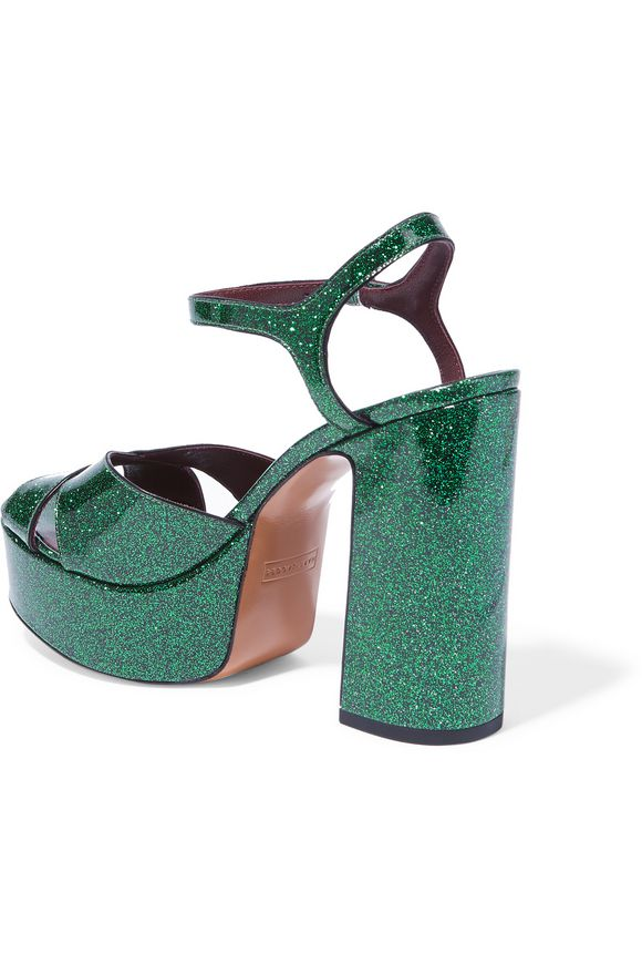 Debbie glittered leather platform sandals | MARC JACOBS | Sale up to 70% off  | THE OUTNET