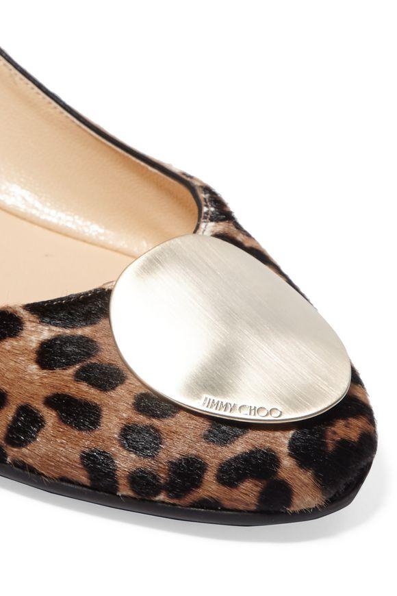 127478b38b91 Wray leopard-print calf hair ballet flats | JIMMY CHOO | Sale up to ...