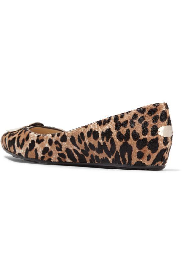 c06c7b5e0cdd Wray leopard-print calf hair ballet flats