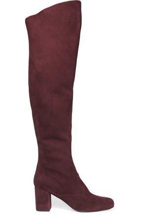 SAINT LAURENT BB suede over-the-knee boots