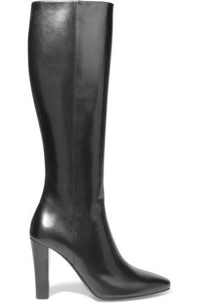SAINT LAURENT Lily leather knee boots
