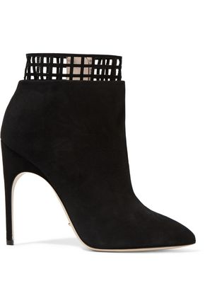 SERGIO ROSSI Laser-cut suede boots