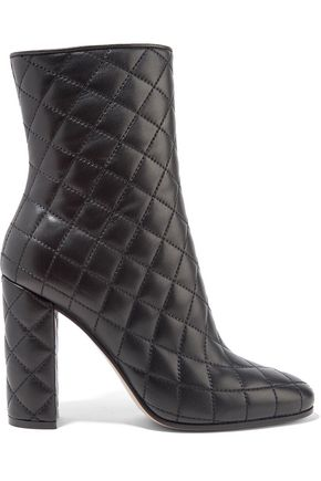 GIANVITO ROSSI 100 quilted leather ankle boots