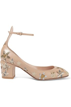 VALENTINO Tango embellished leather pumps