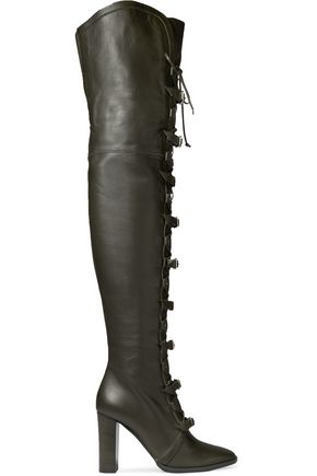 Jimmy Choo Woman Doma Elaphe-paneled Suede Over-the-knee Boots Black Size 36 Jimmy Choo London Fake For Sale tw0J3Qzzi