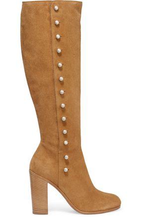 MAISON MARGIELA Buttoned suede knee boots