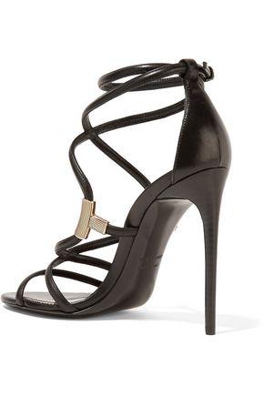 Embellished leather sandals Tom Ford pySADZ