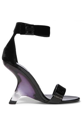 TOM FORD Patent-leather and velvet sandals