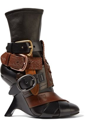 TOM FORD Buckled stretch-leather ankle boots
