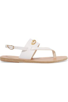 ANCIENT GREEK SANDALS + ilias LALAoUNIS Zoe Snakes embellished leather sandals