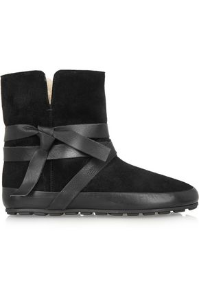 ISABEL MARANT ÉTOILE Nygel leather and shearling ankle boots