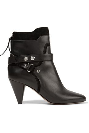 ISABEL MARANT Raya suede-trimmed leather boots
