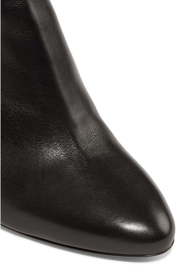 Raya suede-trimmed leather boots   ISABEL MARANT   Sale up to 70% off   THE  OUTNET