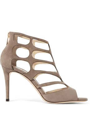 JIMMY CHOO Ren cutout suede sandals
