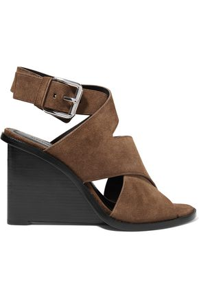 ALEXANDER WANG Elisa suede wedge sandals