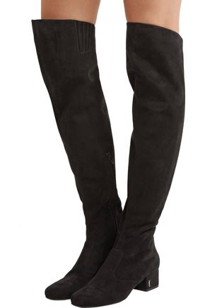 Saint Laurent Suede Knee Boots cheap websites free shipping looking for DFm4Rp04GE