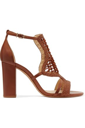 ALEXANDRE BIRMAN Marinah woven suede and leather sandals
