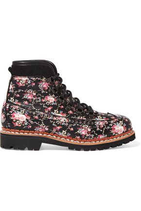 TABITHA SIMMONS Bexley floral-print leather ankle boots