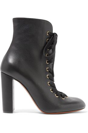 CHLOÉ Lae-up leather ankle boots