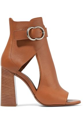 CHLOÉ Millie cutout leather ankle boots