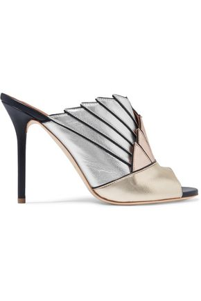 MALONE SOULIERS Donna metallic leather mules