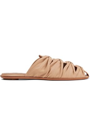 THE ROW Capri leather slippers