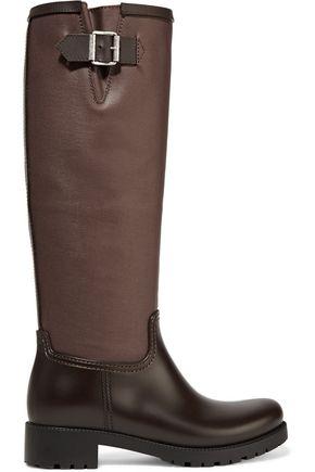 MM6 MAISON MARGIELA Coated canvas and rubber rain boots