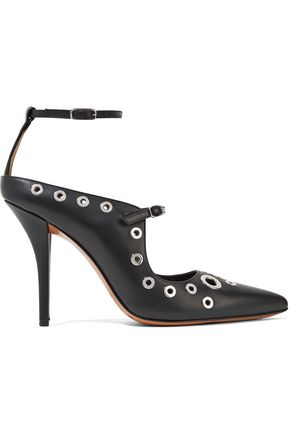 GIVENCHY Eyelet-embellished leather pumps