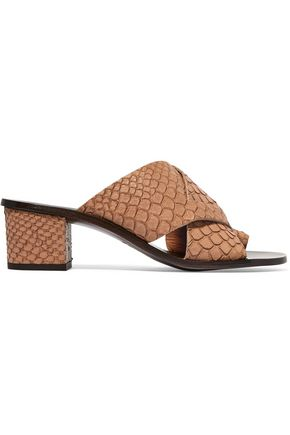 ATP ATELIER Felicia snake-effect leather sandals