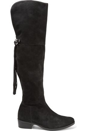 SCHUTZ Sarita fringed suede over-the-knee boots
