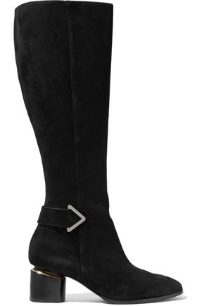 NICHOLAS KIRKWOOD Brannagh cutout buckled suede boots