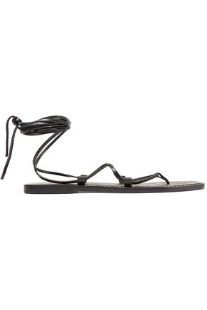 TOMAS MAIER Lace-up embossed leather sandals