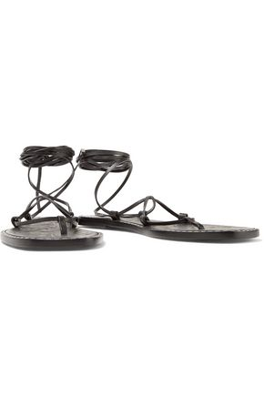 ... TOMAS MAIER Lace-up embossed leather sandals ...