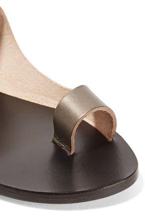 ATP ATELIER Cutout metallic leather sandals