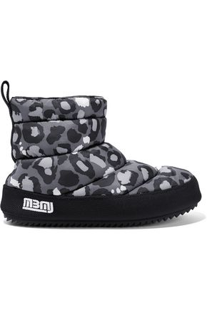 MARC BY MARC JACOBS Leopard-print quilted shell boots